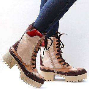 New Chunky Platform Lug Sole Ankle Boots Booties